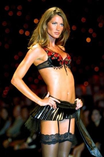 Gisele wearing Victoria's Secret, November 2002