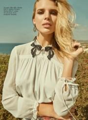 Blouse, Miu Miu, KUL-T; skirt, Prada, KUL-T; earrings, ring, all - Iordanis Jewelry