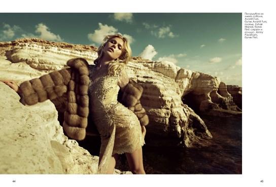 Полушубок из меха соболя, Avanti Furs, бутик Avanti Furs; платье, Zuhair Murad, бутик First; серьги и кольцо, Jenny Packham, бутик First.