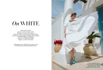 Dress, Alexander Wang, Plantation boutique; shirt, Prada, KUL-T boutique; shoes, Gucci, KUL-T boutique; beads, Alkionides Charity, KUL-T boutique