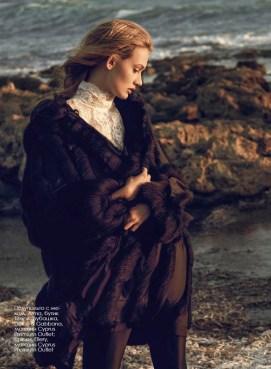 Fur trimmed coat, Arma, Timinis boutique; shirt, Dolce & Gabbana, Cyprus Premium Outlet; trousers, Ellery, Cyprus Premium Outlet