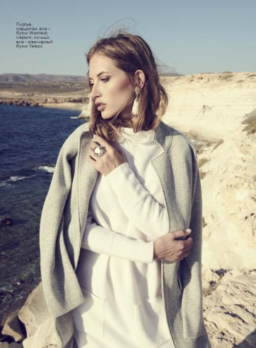Dress, cardigan, all – Wanted boutique; earrings, rings, all - jewelry boutique Telezo