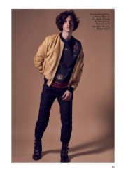 Leather jacket, pants, shoes, all - Dolce & Gabbana, KUL-T boutique; sweater, Gucci, KUL-T boutique