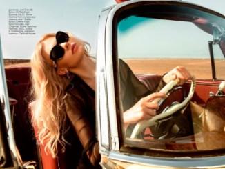 Jeans, Just Cavalli, boutique 34 the shop; blouse, No.21, Creme Noir boutique; necklace, earrings, all - Rada, Creme Noir boutique; brassiere, Lise Charmel, Femme-Femme boutique; glasses, Dolce & Gabbana, Ioannou Optical House.