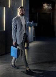 Jacket: Herr von Eden Turteneck Sweater: Sandro Paris Trousers: Vitale Barberis Canonico Bag: Montblanc Tassel Loafers: Santoni Pocket Square: Anton Meyer