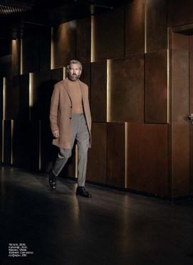 Coat: Zara Turtleneck Sweater: Boss Trousers: Vitale Barberis Canonico Tassel Loafers: Etro