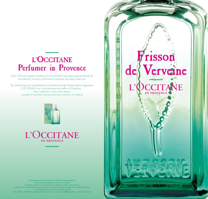 Since 1976, the fragrant creations of L'OCCITANE have been inspired directly by the olfactory territory of Provence. Simplicity has always been key. By introducing new interpretations of verbena through limited-edition fragrances, L'OCCITANE truly is the perfumer-storyteller of Provence… Every collection is like a new season, a breath of summer, a harvest journal, a memory of verbena.