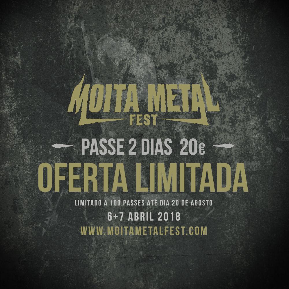 Moita Metal Fest 2018 - Oferta Limitada de Passes 2 Dias
