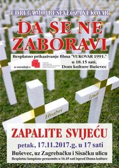 Plakat Vukovar 2017