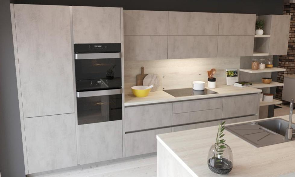 kuchynská linka cement-svetlý kuchyne Frozen Elektro Nitra