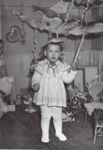 Zdjęcie dziwczynki w przedszkolu  z 1965 roku