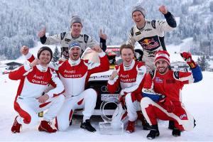 Kitzbühel: Gwiazdy sportu zachwycone Audi quattro #SuperQ