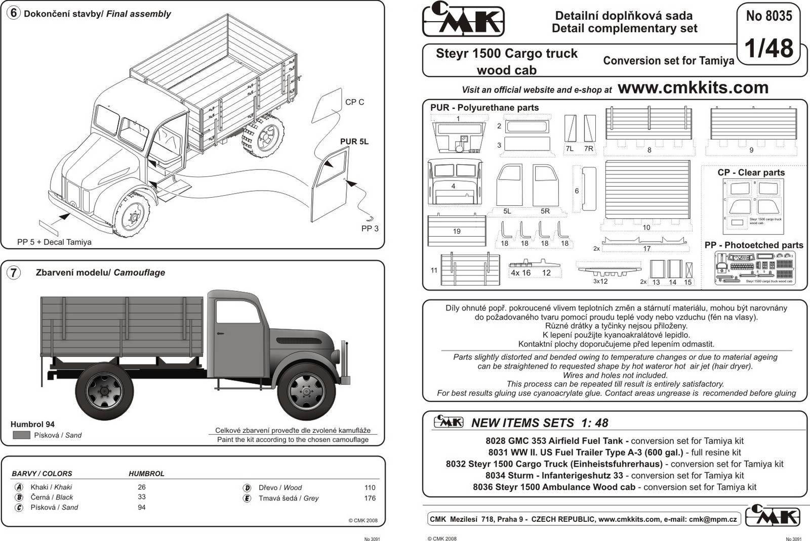 Steyr Cargo Truck Konwersja Tam Cmk
