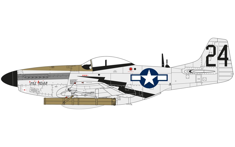 North American P51 D Mustang Model Do Sklejania Airfix