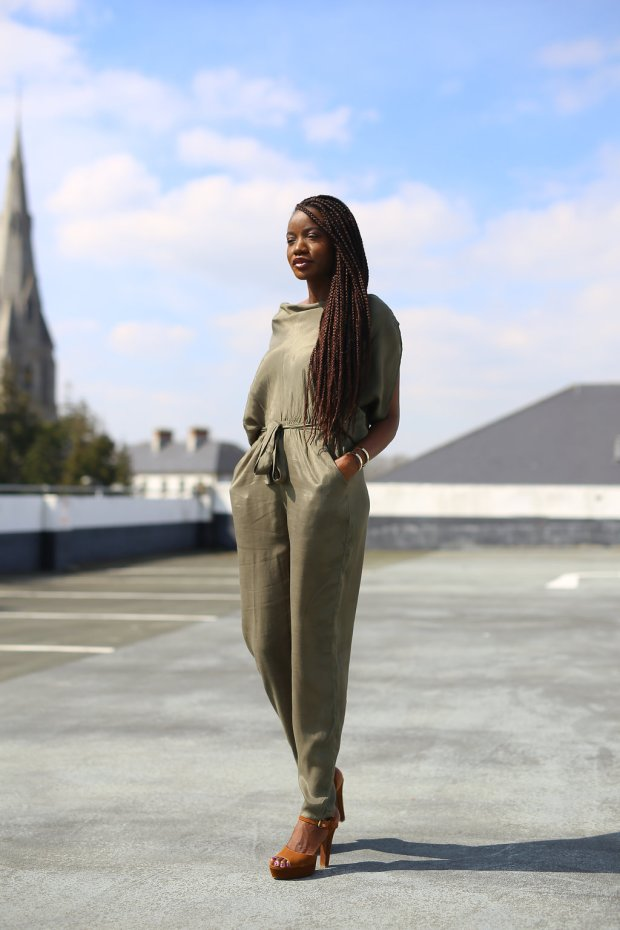 FULL CIRCLE OLIVE JUMPSUIT