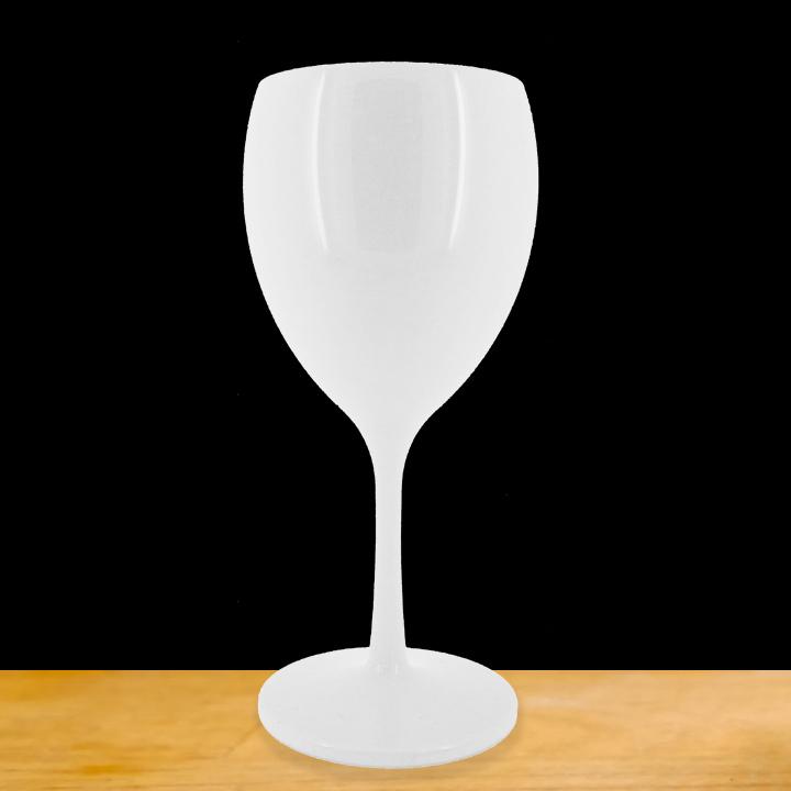 verre a pied blanc incassable