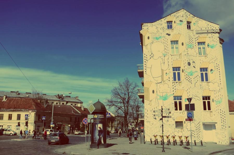 Millo Street Art Mural in Vilnius