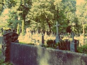 Vilnius im Sommer. Verwunschener Friedhof in Vilnius