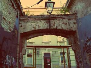 Uzupis in Vilnius - ein alter Torbogen