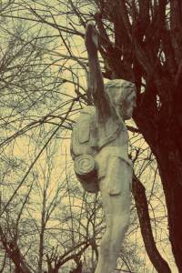 Uzupis in Vilnius. Jesus der Backpacker in Uzupis