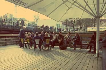Uzupis in Vilnius. In Uzupis wird Gemeinschaft wird großgeschrieben