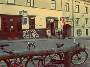 Uzupis in Vilnius. Spunka-Bar