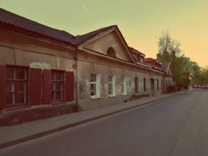 Uzupis in Vilnius. Straße in Uzupis