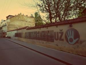Uzupis in Vilnius. Verfassung der Republik Uzupis