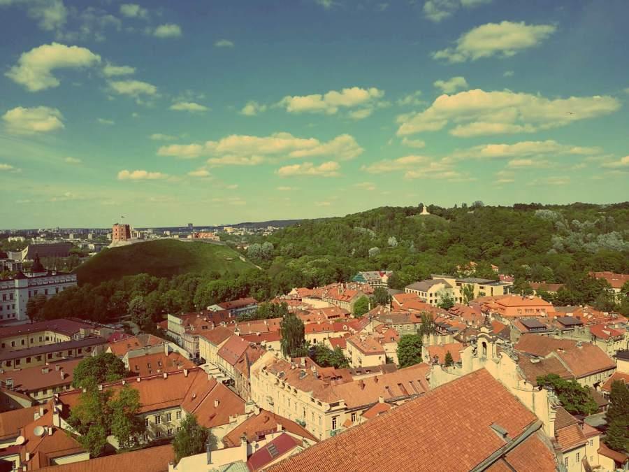 Craft Beer Vilnius. Blick auf Altstadt