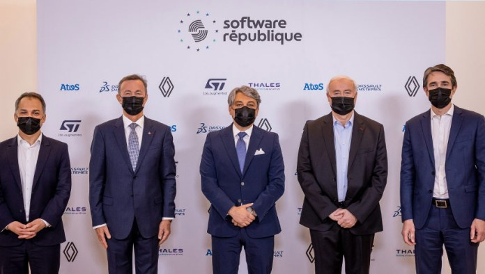 Atos, Dassault Systèmes, Groupe Renault, STMicroelectronics and Thales join forces to create Software République