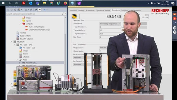 beckhoff automation successfully concludes its webinar series motion platform 2021 drive technology in practice