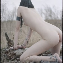 Nude and Implied Artistic Portrait Photographer in Nature, Outdoors, Model posing as my Muse