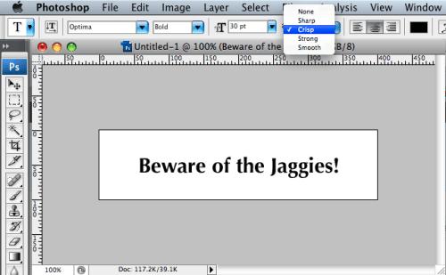 Selecting the anti-aliasing setting