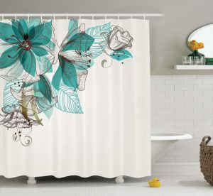 ambesonne turquoise shower curtain set