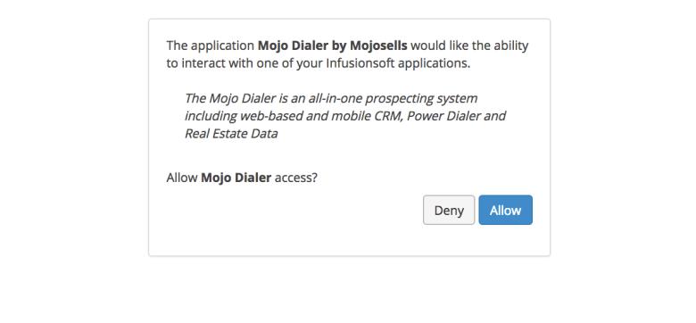 Mojo Dialer integration