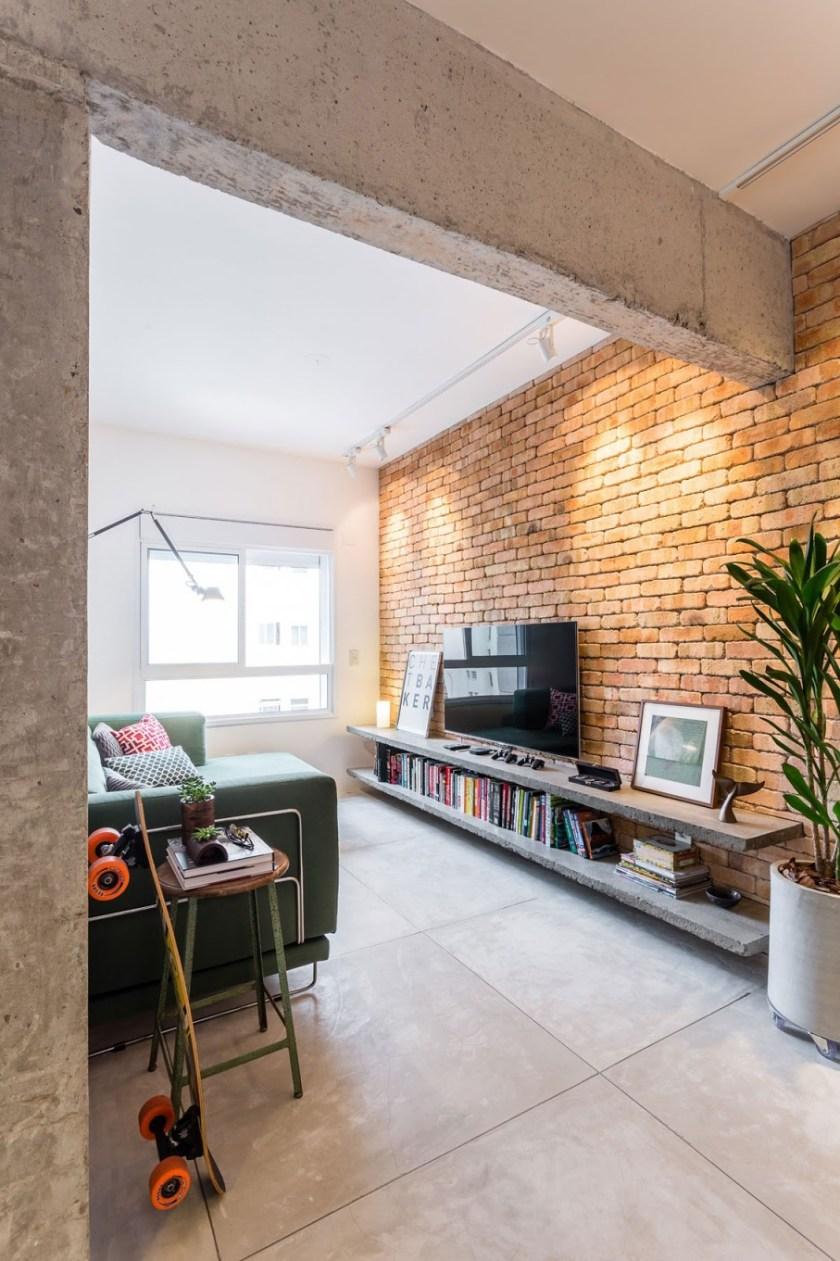Beton i cigla za završno uređenje stana