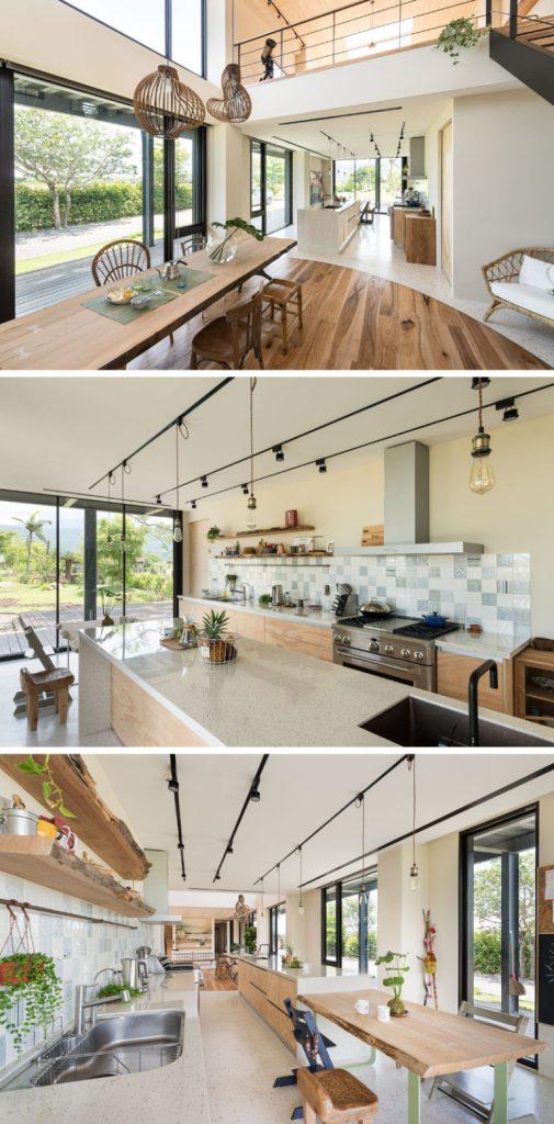 Kuća sa jedinstvenim drvenim interijerom
