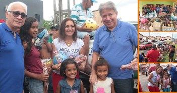 Prefeita entrega brinquedos para as crianças de Moju.