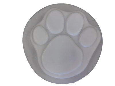 Dog Paw Print Concrete Stepping Stone Mold 1030