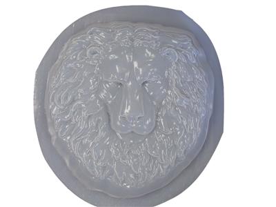 Lion Head Face Concrete Or Plaster Mold 7032 Moldcreations