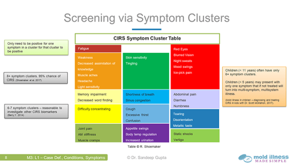 Mold Illness Made Simple - CIRS Symptom Clusters
