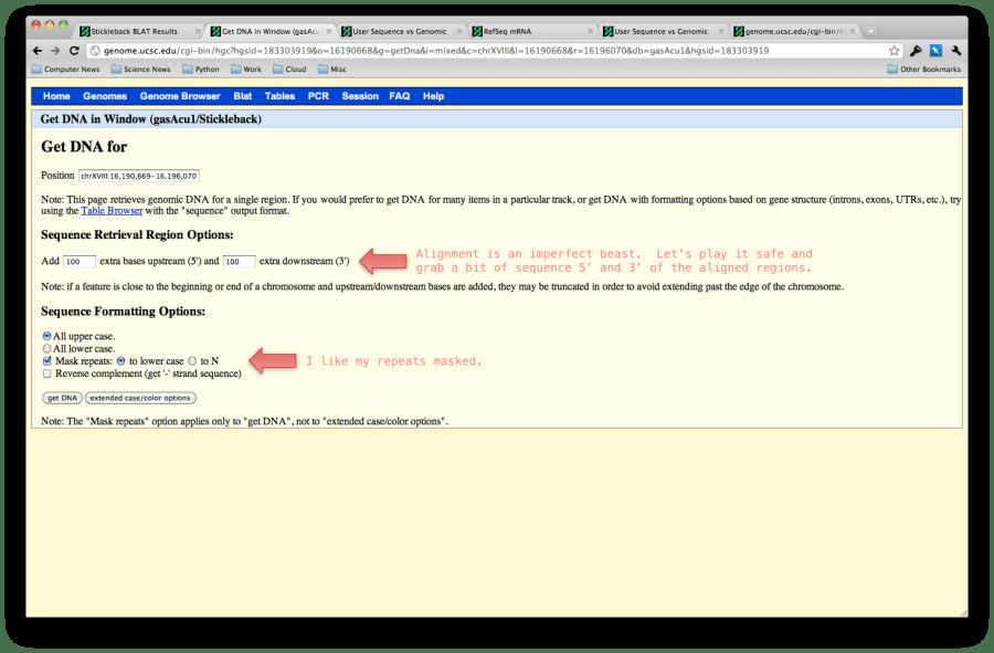 get dna sequence of myh6 homolog in stickleback