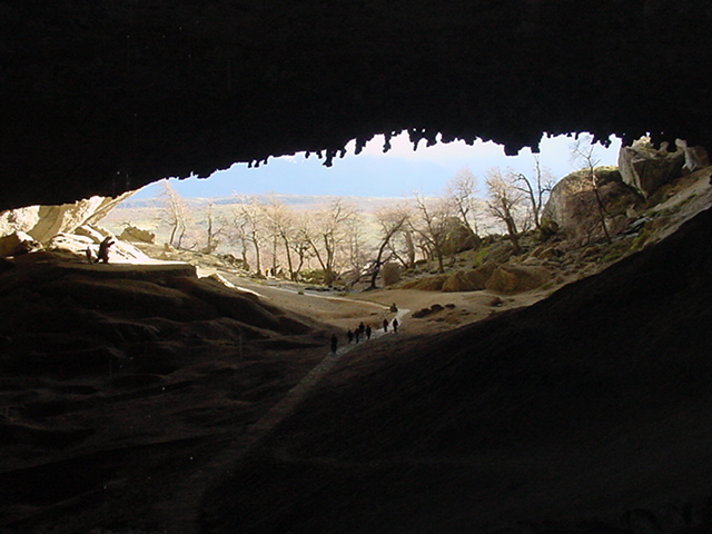 Cueva del Milodón (Mylodon Cave) in Patagonia. Source: WikimediaCommons