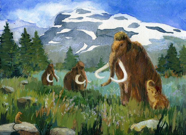 A Herd of Mammoths. Source: WikimediaCommons/Kira Sokolovskaia