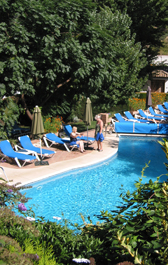 Hotel Molino del Santo heated pool
