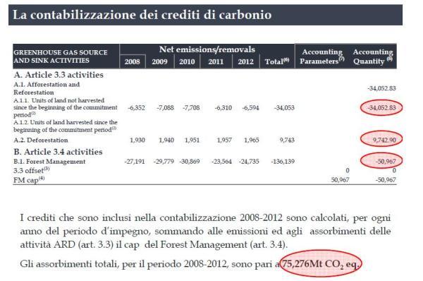 La contabilizzazione dei crediti di carbonio