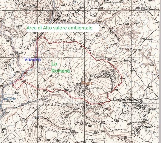Isernia - Cartografia della zona della Romana