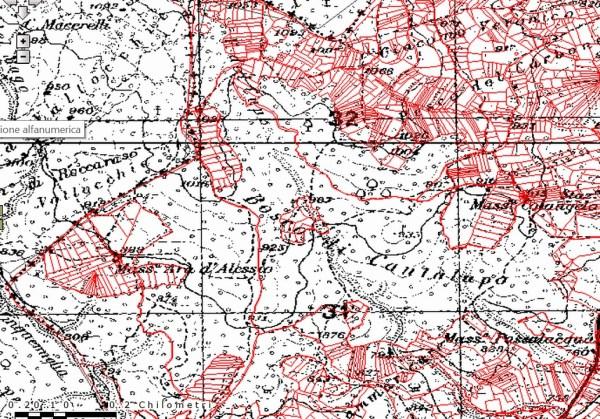 Cartografia Bosco San Martino Cantalupo Fonte Portale cartografico Regione Molise