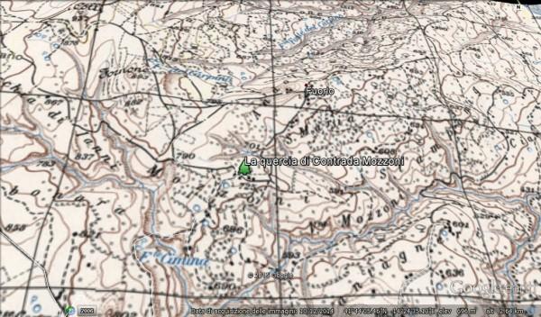 La quercia di Contrada Mozzoni Cartografia