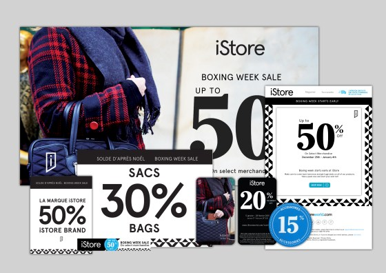 iStore Montreal Bilingual Boxing Day Campaign MC CREATIVE - Mollie E. Coons